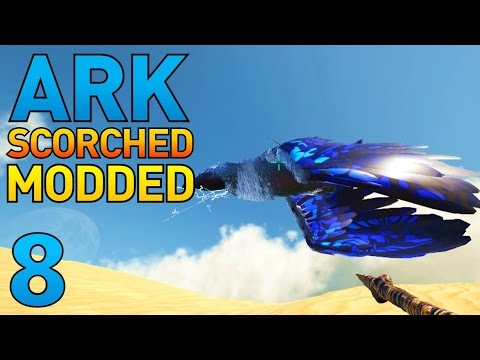 [8] Building All The Weapons! And Tesla Taming! (ARK Scorched Earth Modded Survival)
