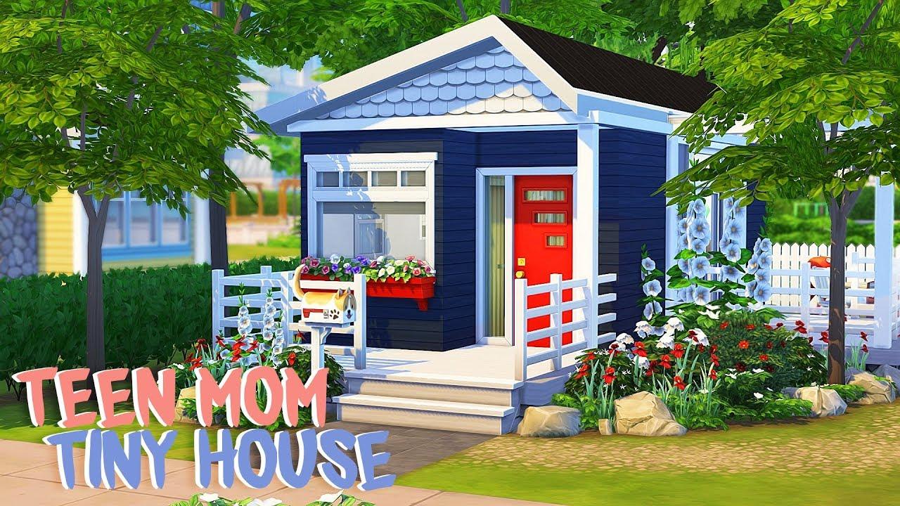 Tiny Teen Mom Home The Sims 4 Speed Build Youtube