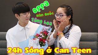 THỬ THÁCH 24 GIỜ SỐNG Ở CĂN TEEN K-POP LỚP HỌC BÁ ĐẠO | OPPA TẶNG HOA