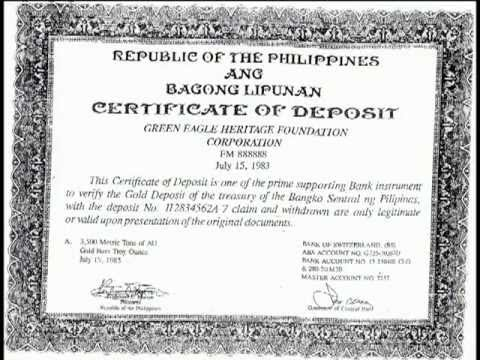 Certificate of Deposit and other paper trails.. - YouTube