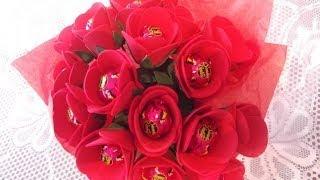 como fazer buque de rosas para o dia das mães