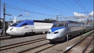 KTX trains in Seoul