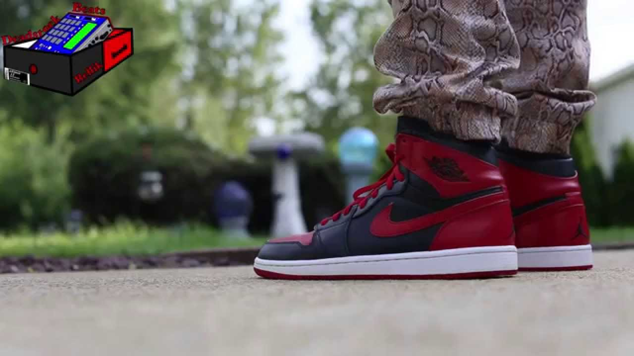 newest a76c2 84e14 Air Jordan 1 (I) Retro High – DMP Bulls On Feet (eXimus Beat) - YouTube