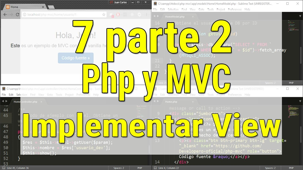 Curso Php con MVC Implementar clase View con Bootstrap - YouTube