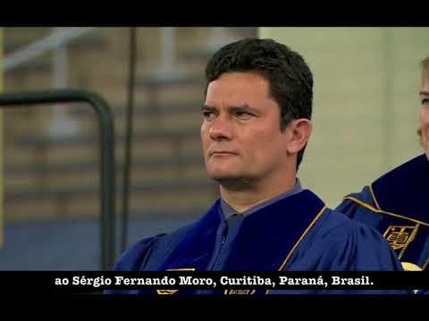 Juiz Sérgio Moro Recebe Título De  Doctor Laws Honoris Causa  University Of Notre Dame
