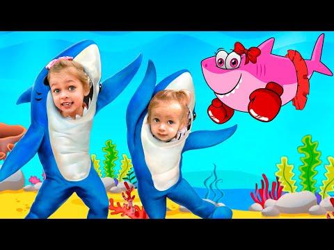 Малыш акуленок - Детская песня | Песни для детей с Майей и Машей