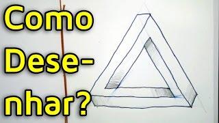 Como Desenhar o Triângulo de Penrose ou Triângulo Impossível?