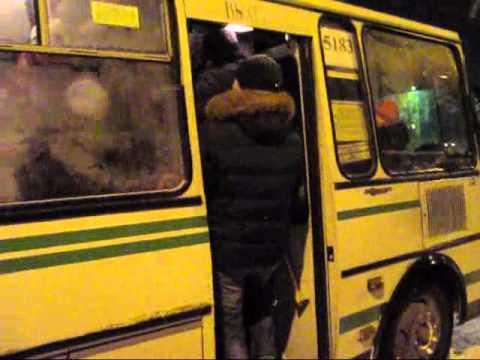 Хабаровск, Берёзовка, давка в автобусе