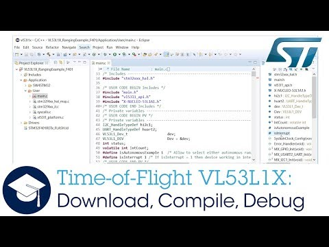 Time of Flight VL53L1X: Download, Compile, Debug