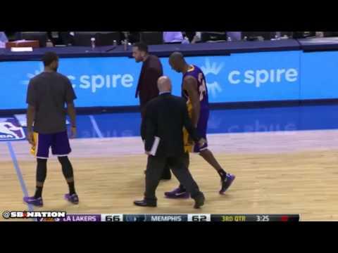 Kobe Bryant knee injury, Los Angeles Lakers vs. Memphis Grizzlies
