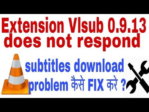 vlc download subtitles server not responding