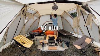 계곡 캠핑 브이로그, 우중캠핑, 오토캠핑, 부부캠핑, …