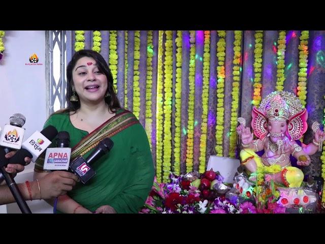 Actress Anara Gupta Celebrating Ganesh Chaturthi At Home Anara Gupta ने की गणेश पूजा अपने घर मे 2019