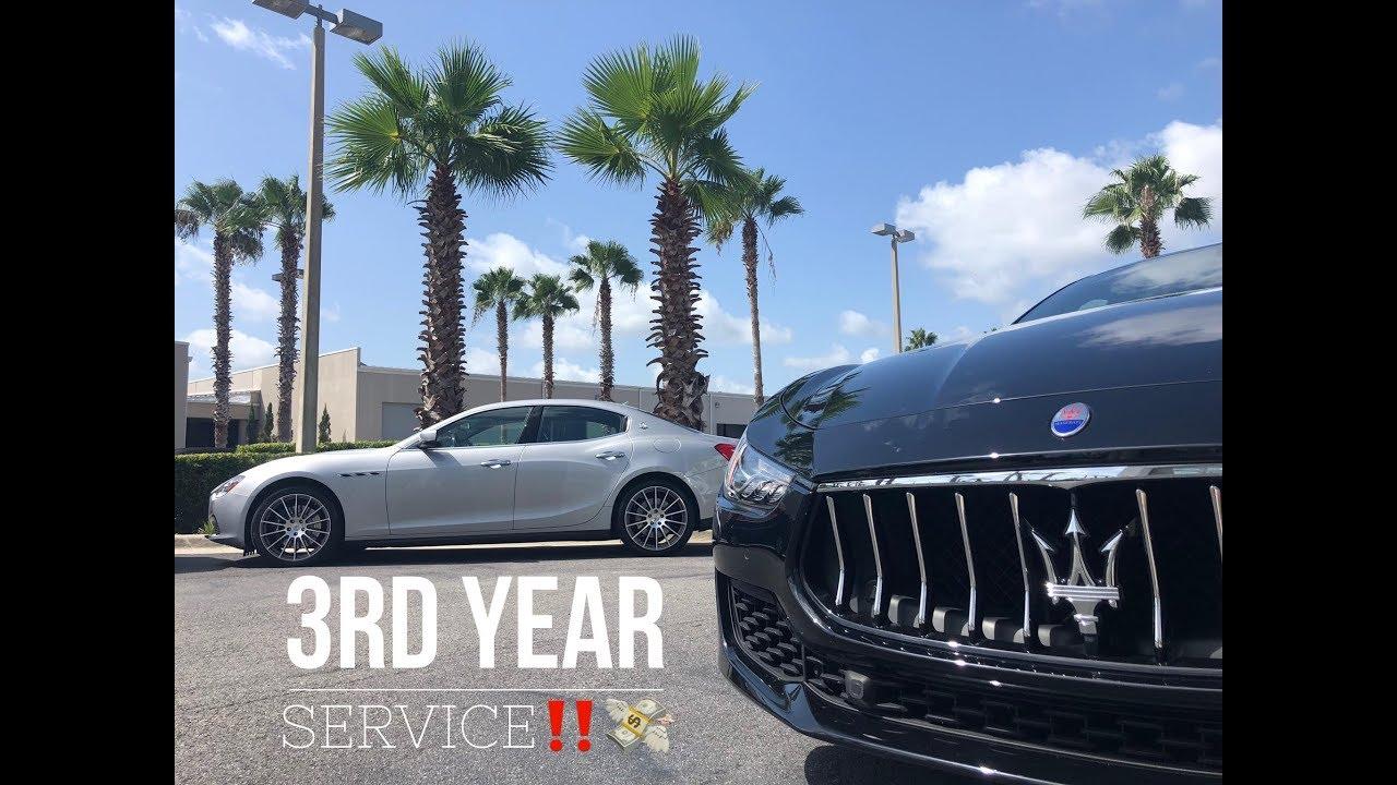 Maserati ghibli service cost