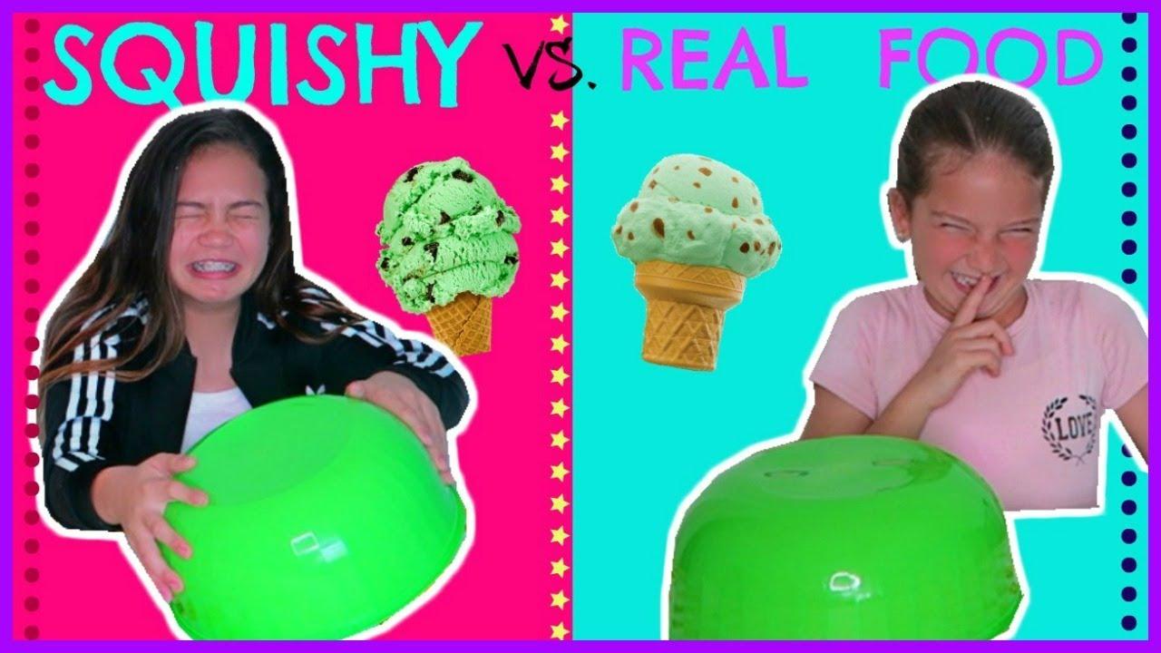 Squishy Versus Real Challenge : SQUISHY VS. REAL FOOD CHALLENGE
