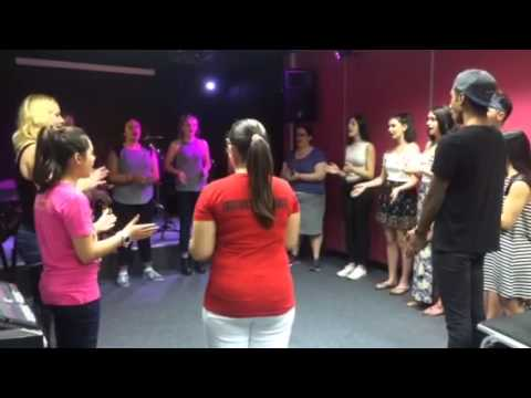 Vocal exercise with Kat at The Institute of Contemporary Music Performance London