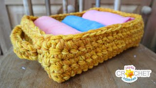 Rectangular Storage Basket - 2 Sizes - What To Do With Variegated Yarn