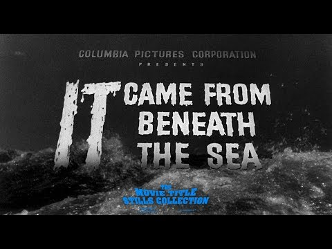 It Came from Beneath the Sea 1955 title sequence