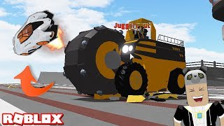 Car Launch Truck! Playing Car Scramble - Roblox Car Crushers with Panda 2