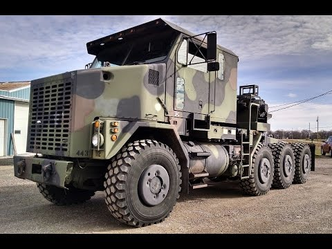 m1070 8x8 oshkosh het military tractor truck youtube. Black Bedroom Furniture Sets. Home Design Ideas