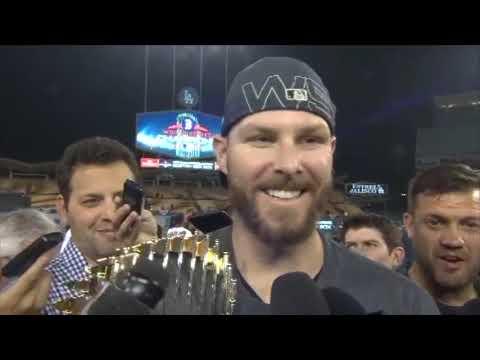 Chris Sale 2018 World Series On Field Celebration Interview