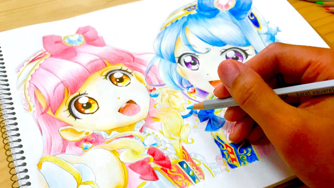 新番組 アイカツフレンズ ぬりえ Aikatsu Friends Coloringbook Youtube