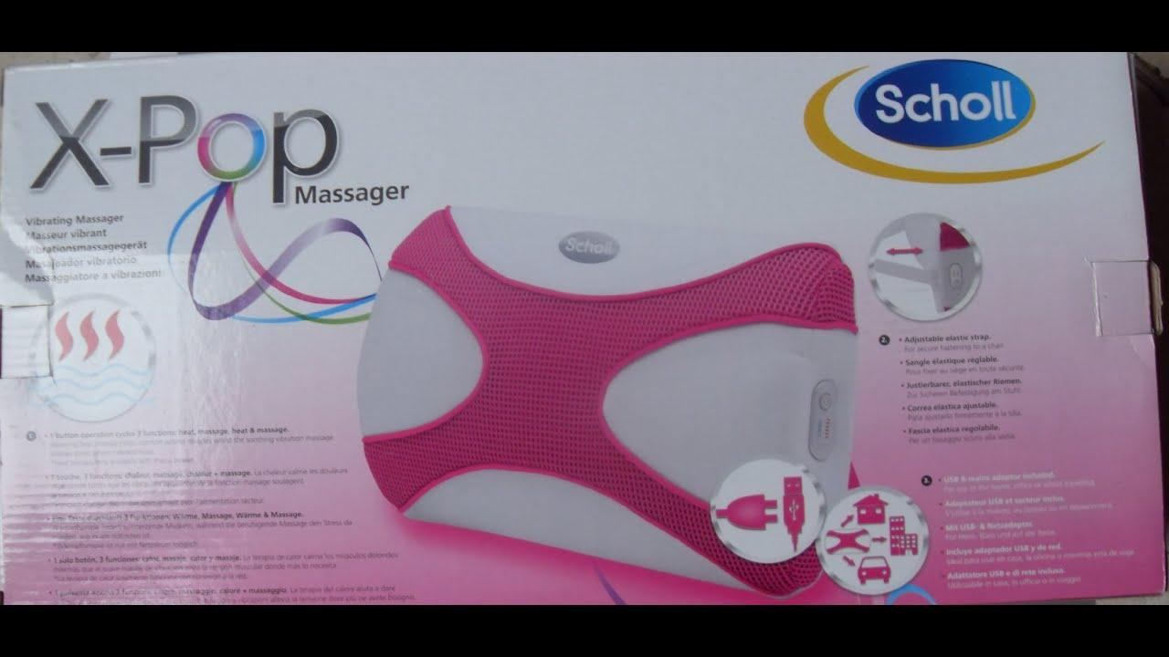A l 39 essai le coussin x pop massager de scholl youtube - Coussin de massage scholl ...