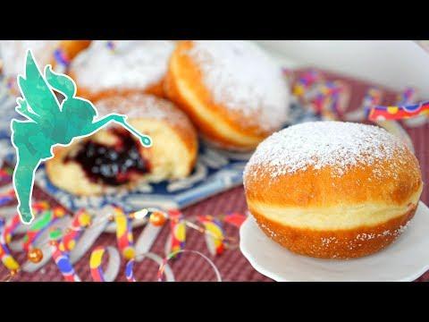 Klassische Berliner selber machen - Berliner wie vom Bäcker mit einfachem Rezept - Kuchenfee