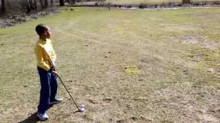 Austin Elmore plays his first round of golf - Second Hole