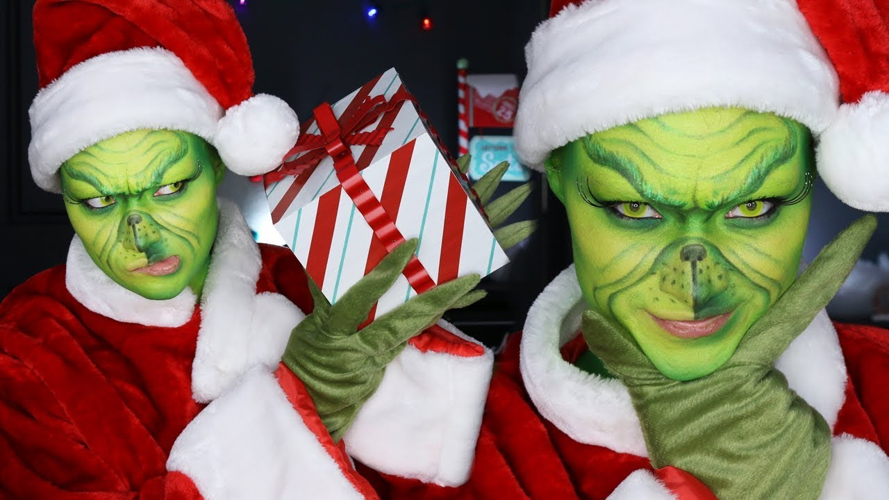 Its The Grinch Holiday Makeup Tutorial Youtube