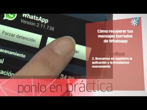 Recuperar mensajes borrados whatsappen iphone
