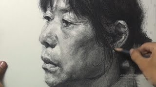 Portrait Drawing in Pencil : Old woman Portrait