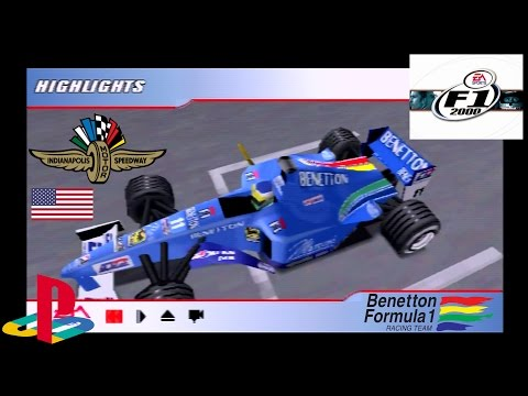 F1 2000 | Benetton / Fisichella | Indianapolis / American GP | PlayStation/PS1/PSX HD