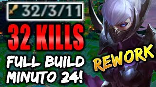IRELIA REWORK! 32 KILLS! FULL BUILD MIN 24!!! DEMASIADO OP! gameplay   lol   eldelabarrapan