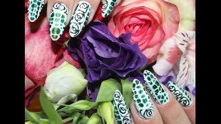 Видео - урок №5 экспресс - роспись: гель - лак, трафаретные розы гель - красками
