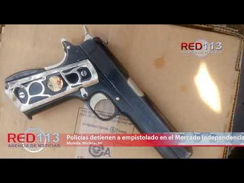 VIDEO Policías detienen a empistolado en el Mercado Independencia