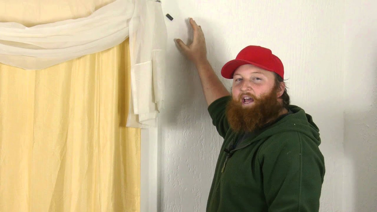 How To Find The Window Stud To Hang Curtains On Plaster