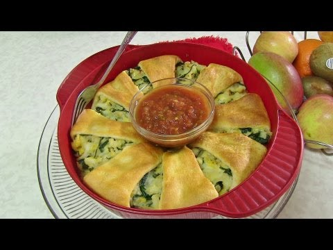 Spinach And Potato Crescent Roll Ring - Mother's Day Brunch Recipe Special