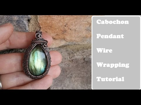 Wire Wrapped Cabochon Pendant, Undrilled Stone (Tutorial/Demo)
