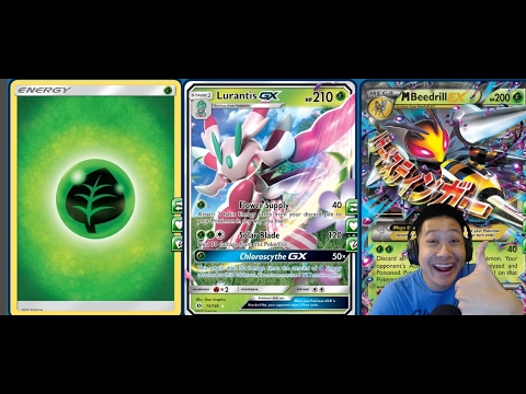 MEGA Beedrill LURANTIS Gx Deck, UNFAIR Trades with PARALYSIS and MAX Potion