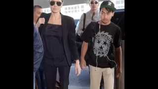 Angelina Jolie and eldest child Maddox, 13, depart JFK Airport after powerful United Nations speech