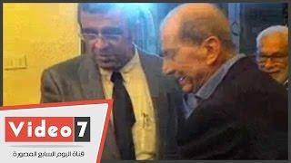 بالفيديو.. عماد أبو غازى وفينيس كامل وأبو الغار والشبكى فى عزاء إدوار الخراط
