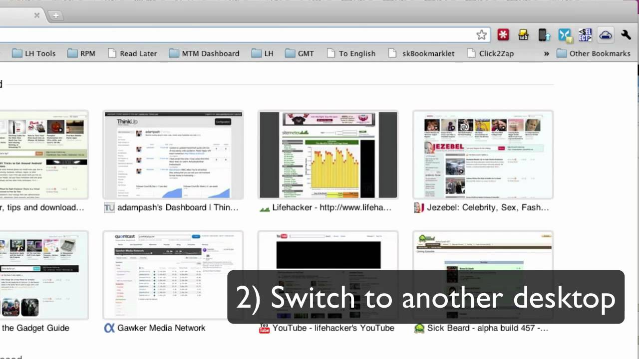how to move between tabs in chrome