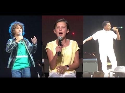 Stranger Things Cast Singing