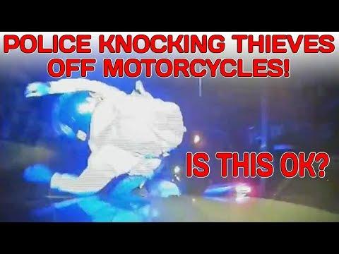 Metropolitan police smashing thieves off bikes! Is this ok?