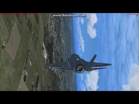 F-35 take off and full stop landing in vertical FSX