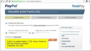 dobití PayPal účtu z Fio Bankovního účtu