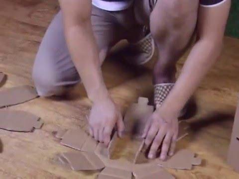 Cardboard Mushroom Stool