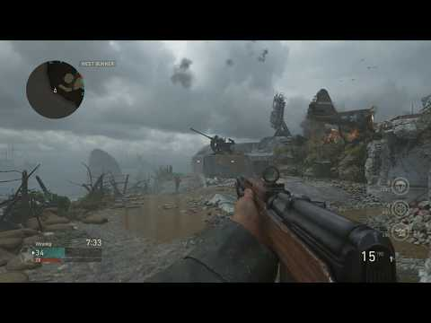 Call Of Duty WW2  SVT-40 Rifle Gameplay Review On Pointe Du Hoc