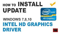 [Latest INTEL HD GRAPHICS DRIVER] How to Update Intel Graphics Driver in Windows 10,7,8